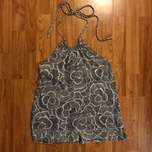 OLD NAVY cream and black halter top
